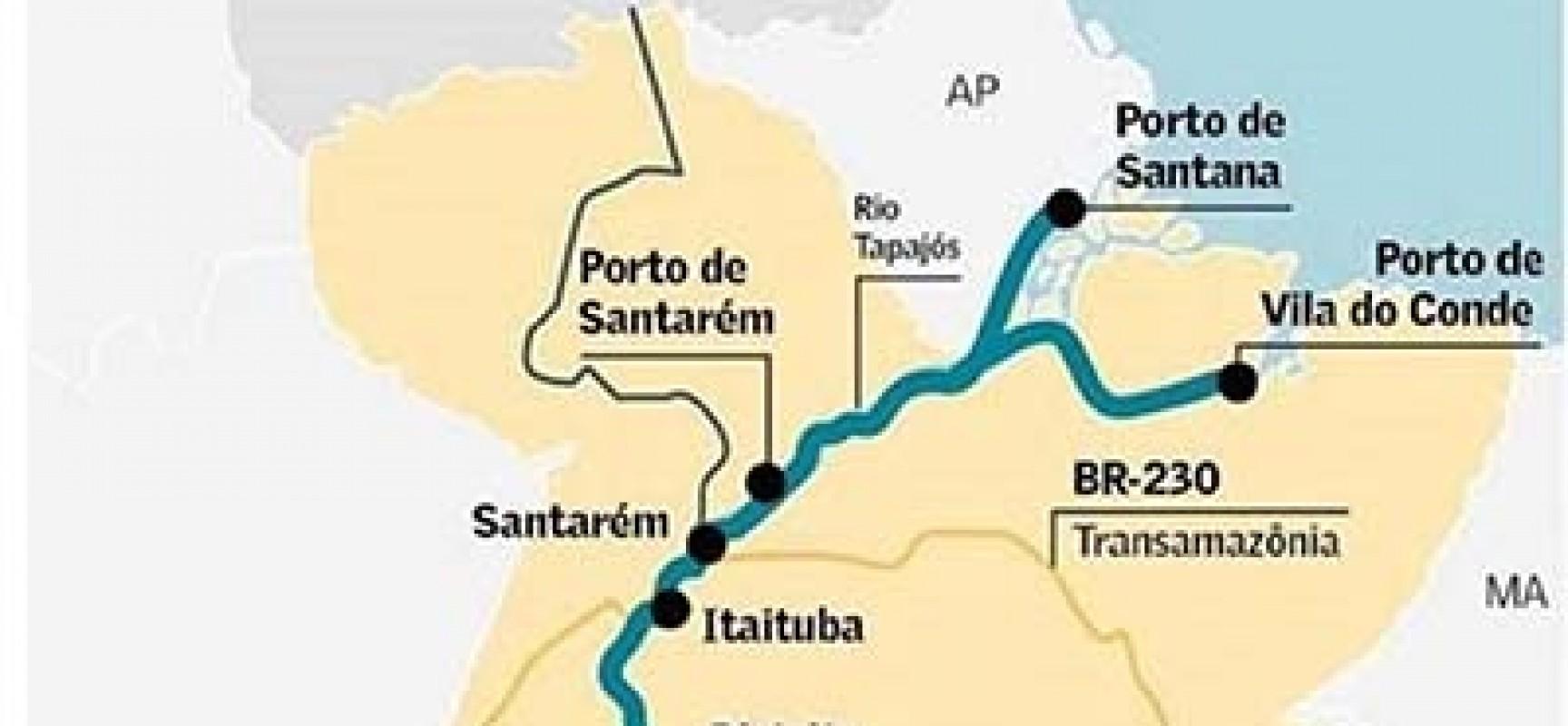 O corredor de exportação no Oeste do Pará