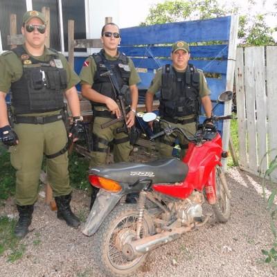 Motocicleta é furtada as margens da Br-163 na Comunidade da Linha Gaúcha