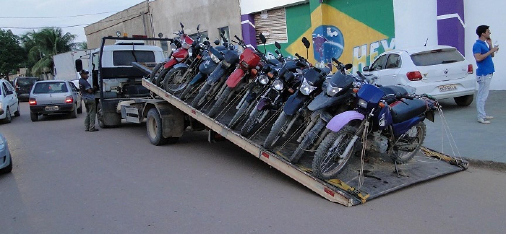 Motocicletas apreendidas.