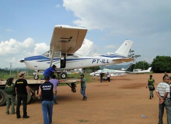 Anac e Ibama apreendem aeronave em Novo Progresso
