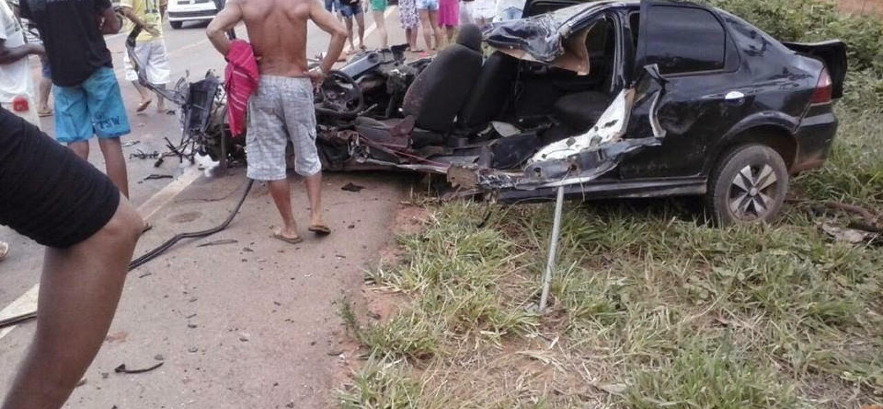 IMAGENS FORTES: JOVEM MORRE EM ACIDENTE GRAVE NA TRANSAMAZÔNICA PRÓXIMO DE ALTAMIRA