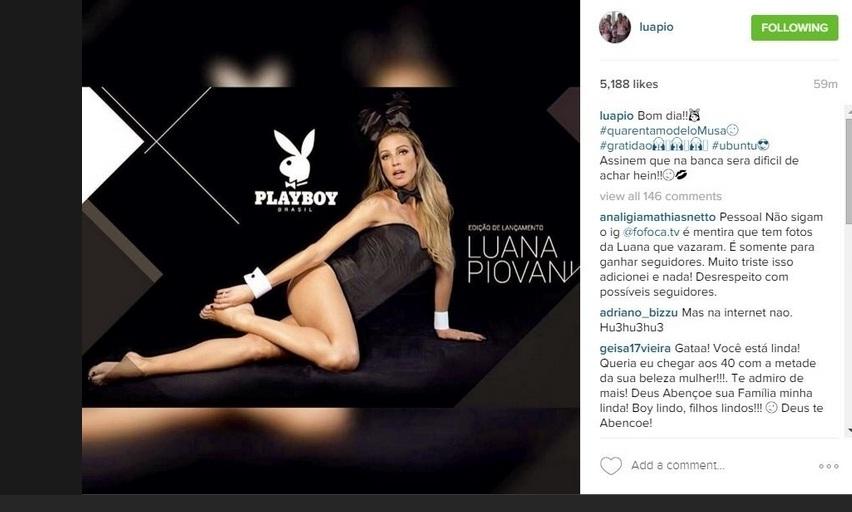 """lançamento da nova """"Playboy"""", posou como coelhinha da revista e ganhou elogios de seus seguidores."""
