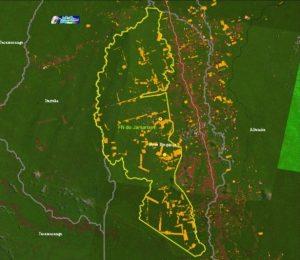 Mapa da antiga Flona Jamanxim