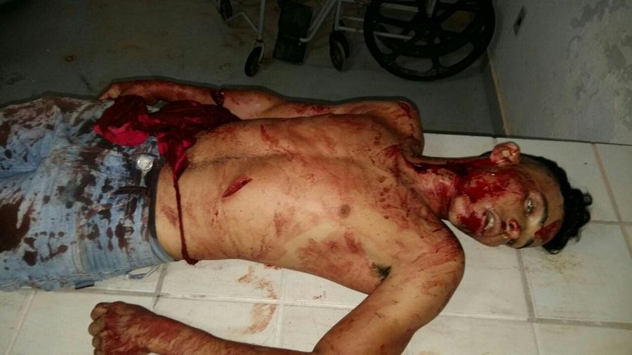 Adeilton Franco Barreto, 21 anos, que foi morto a facadas (Foto PM Cabo Rilton)