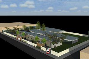 Maquete novo hospital