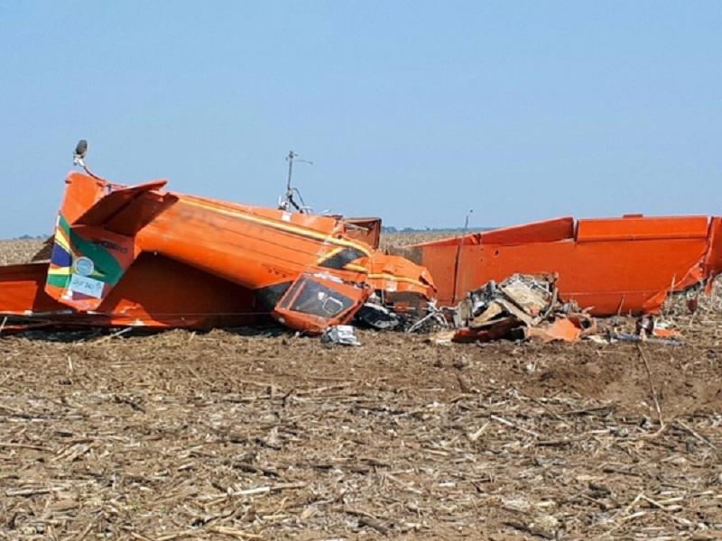 Piloto cai com avião agrícola durante treinamento em fazenda de Mato Grosso