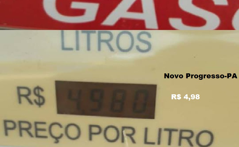Menor preço encontrado para venda no varejo em Novo Progresso (Foto:Marcelo via whatsapp)