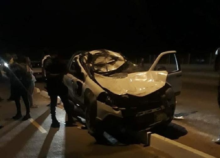 Motorista atropelou seis pessoas e dois animais na MT-419, em Guarantã do Norte (Foto: Divulgação)