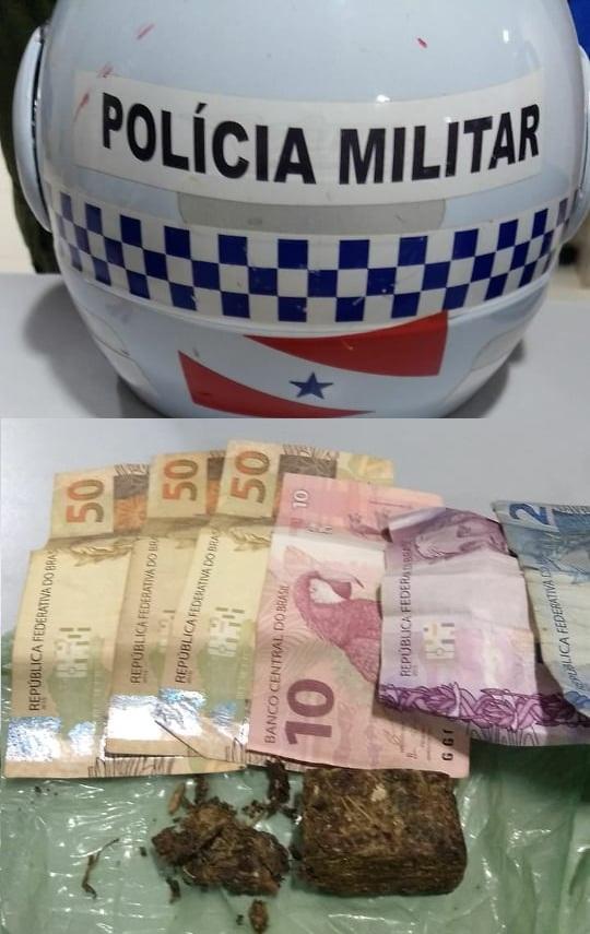 droga e dinheiro preso com os traficantes(Foto:Policia)