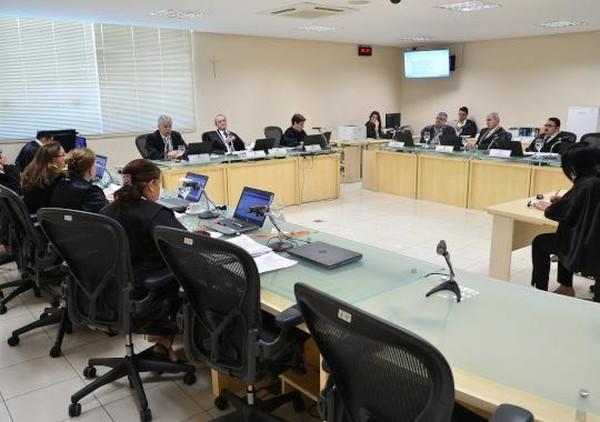 Seção de Direito Penal realizada no TJPA na manhã de segunda-feira, 24 de junho — Foto: TJPA/Divulgação
