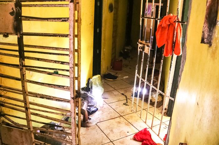 Local ficou parcialmente destruído após ação dos grupos criminosos Local ficou parcialmente destruído após ação dos grupos criminosos (Bruno Cecim / Agência Pará)