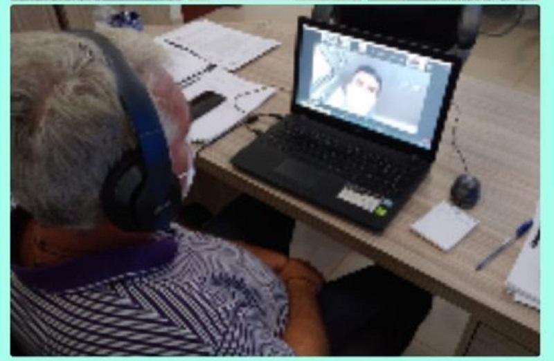 Prefeito Gelson Dill (MDB) em vídeo conferencia com Governador Helder Barbalho (Foto:Divulgação)