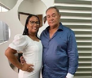 O Casal Delcino Ferreira dos Santos de 63 anos e Leidiony de Souza Fontenellis de 43 anos , eram moradores de Guarantã do norte no Mato Grosso(Reprodução)